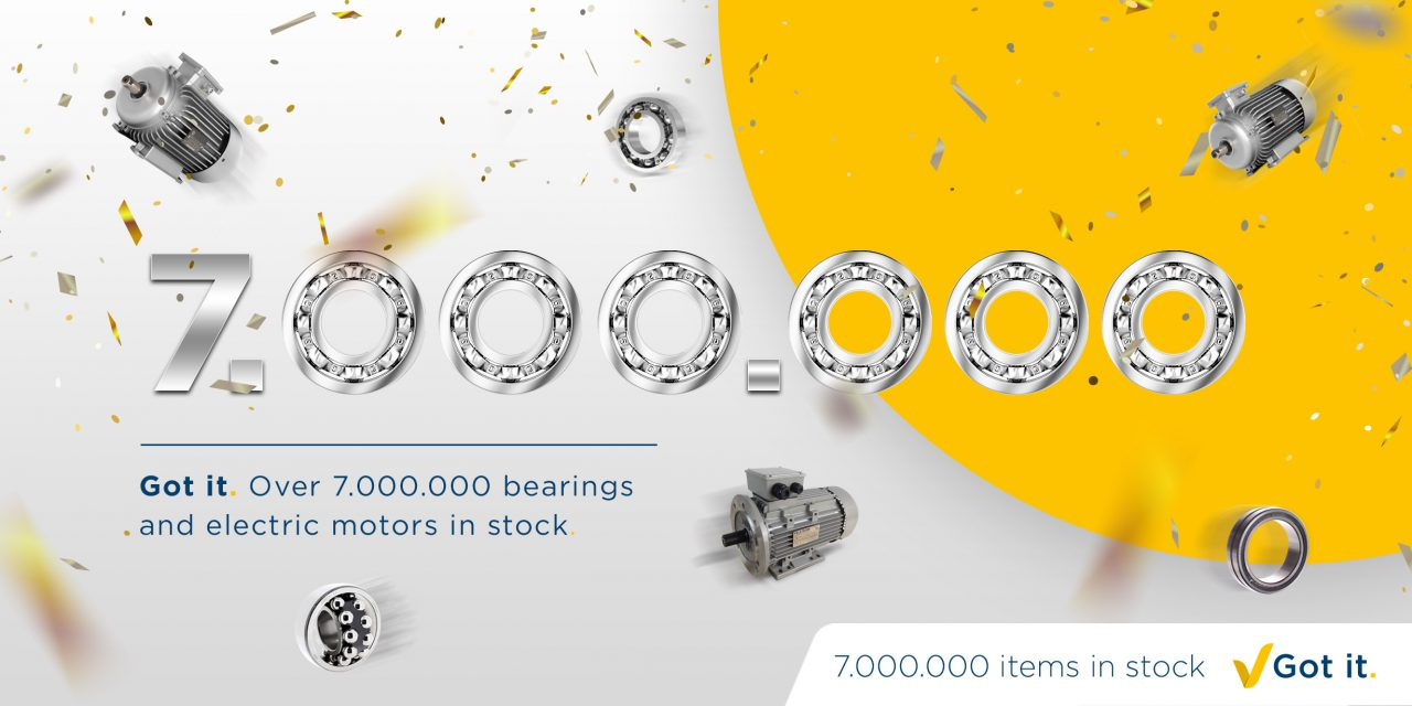 New record: 7,000,000 bearings and electric motors