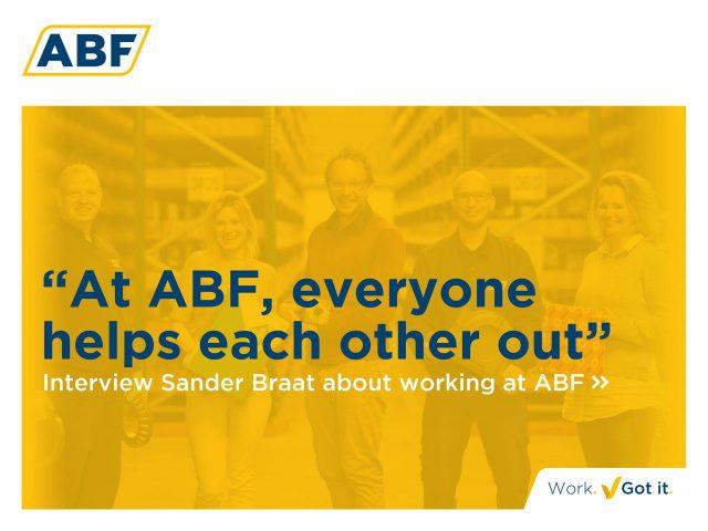 """""""Bij ABF heeft iedereen wat voor elkaar over"""""""