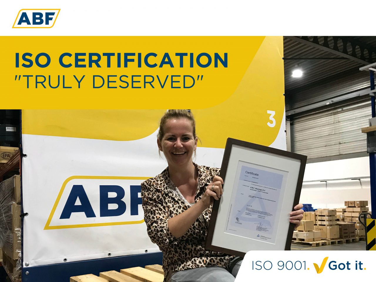 """ABF's ISO Certification truly deserved"""