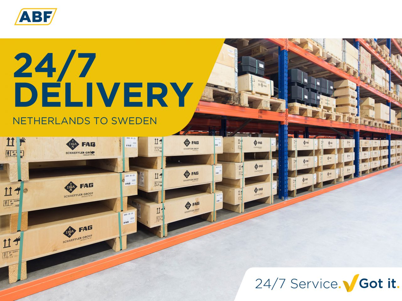 ABF delivers special bearings within 24 hours to Sweden