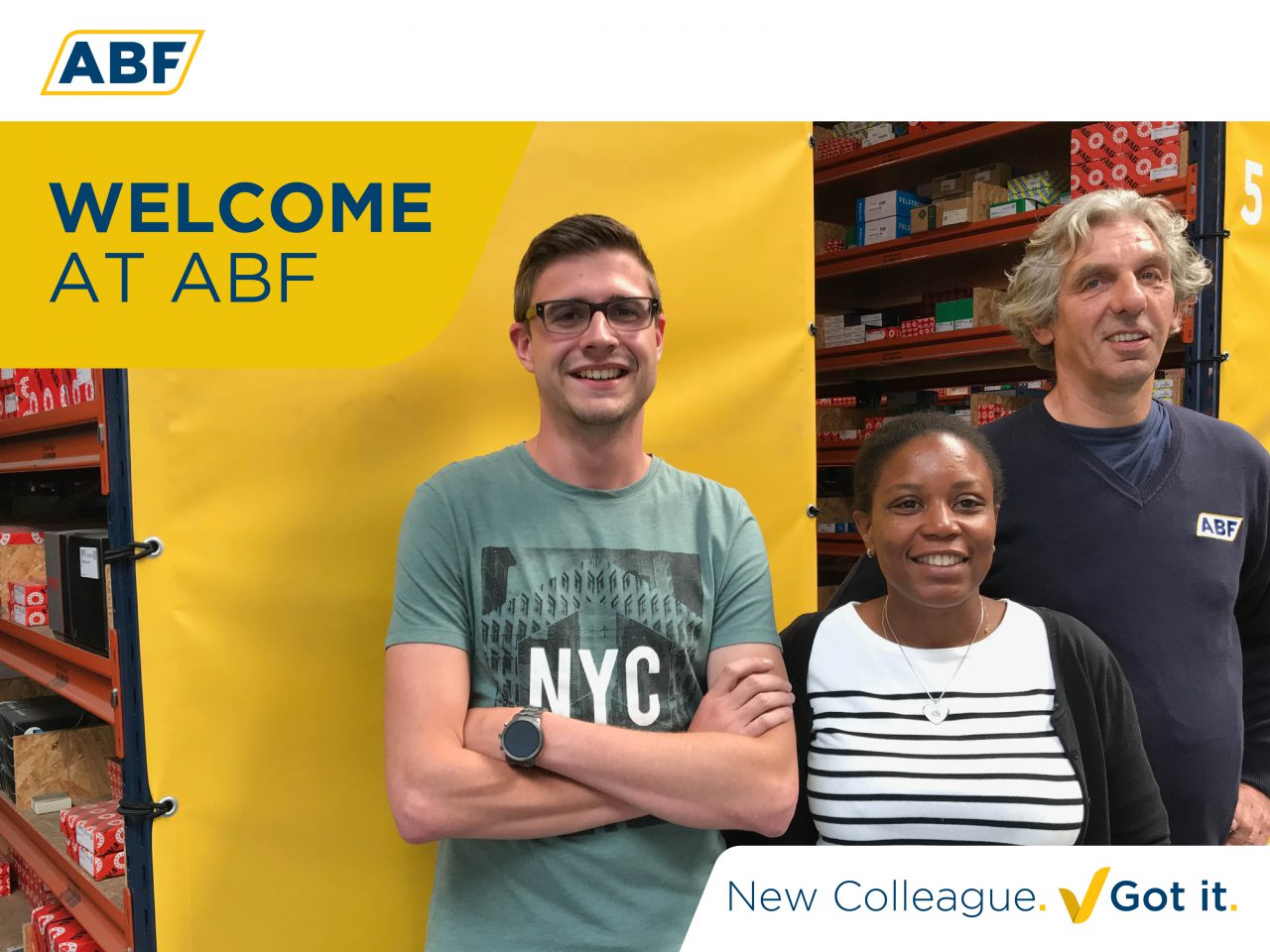 Alicia, Dylan and Henk: welcome at ABF!