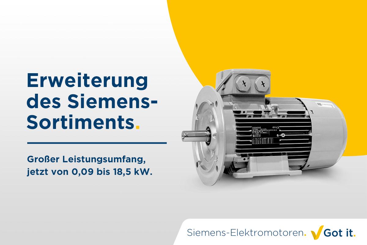Erweiterung des Siemens-Sortiments. Got it.