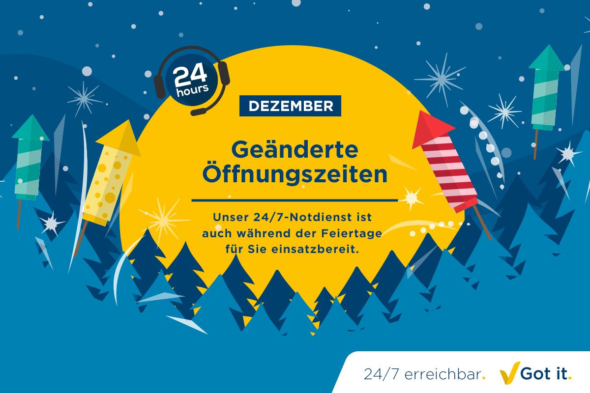 ABFs geänderte Öffnungszeiten im Dezember