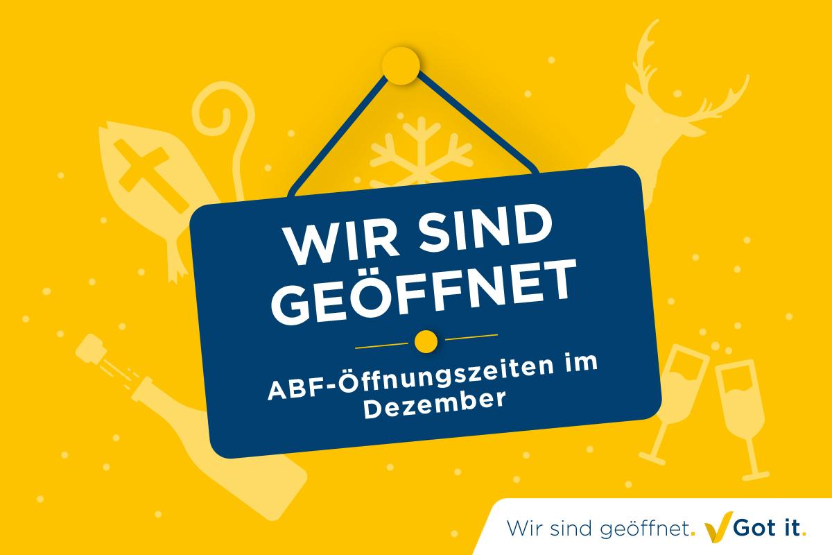 ABF-Öffnungszeiten im Dezember