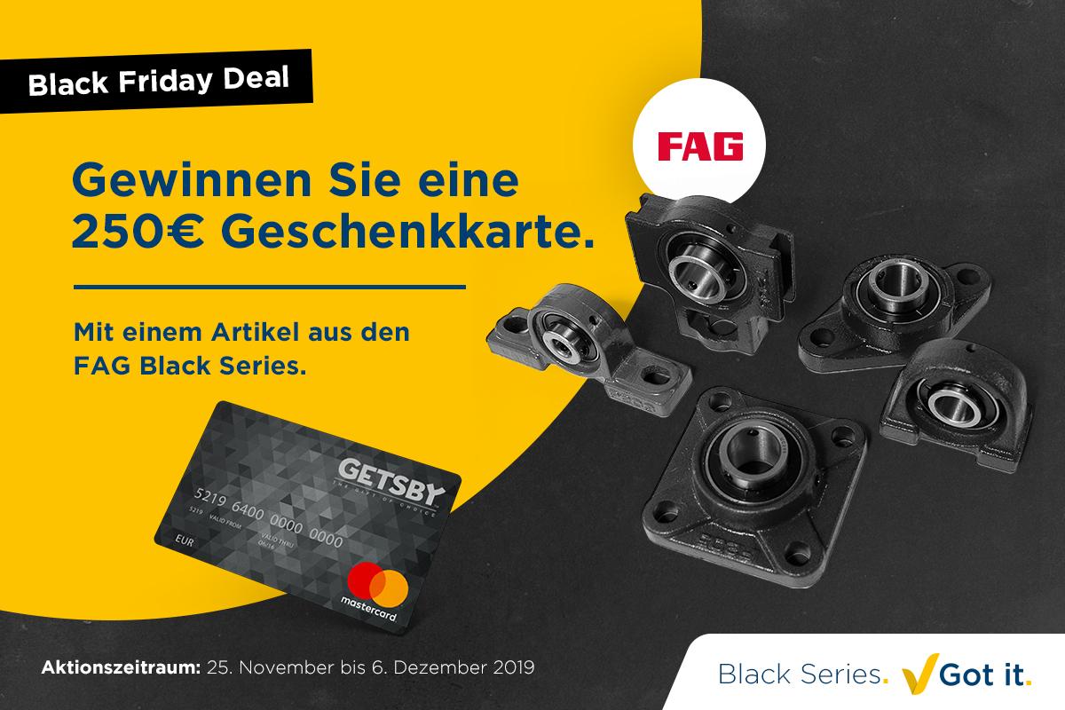 Black Friday Deal: Gewinnen Sie eine Geschenkkarte mit den FAG Black Series