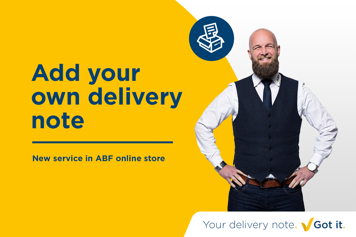 Your own delivery note with your order