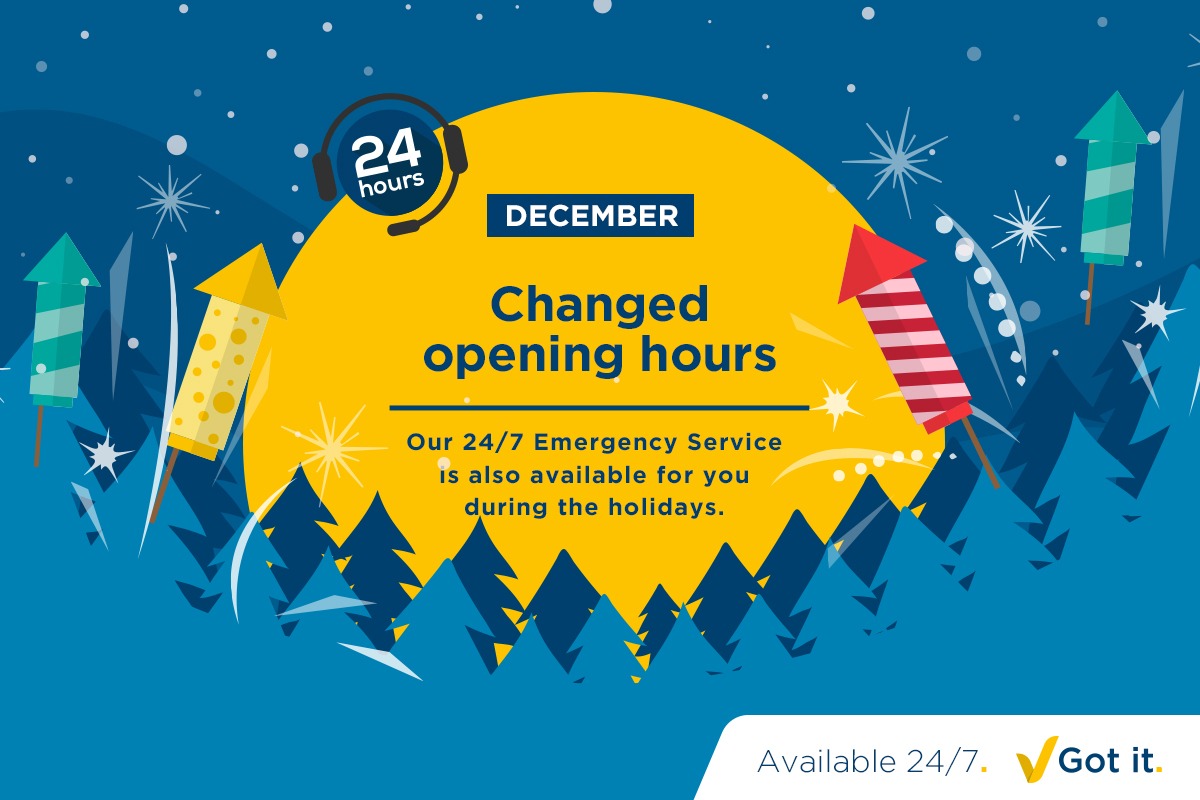 ABF's changed opening hours in December