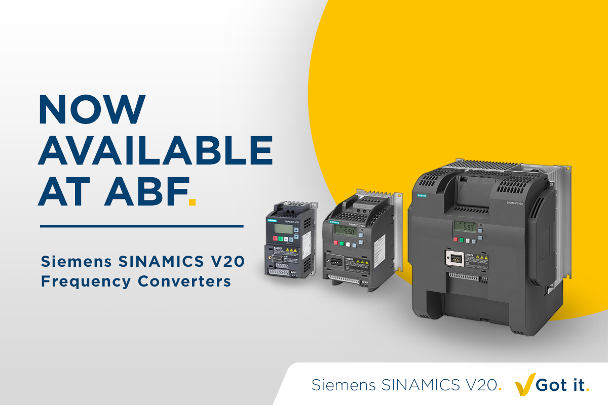Siemens SINAMICS V20 Frequency Converters now available at ABF
