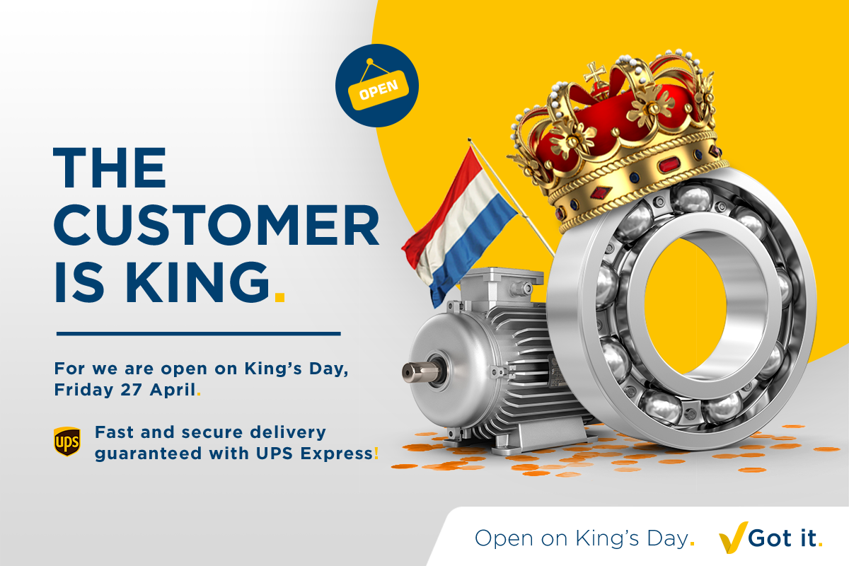 The customer is king! We are open on King's Day.