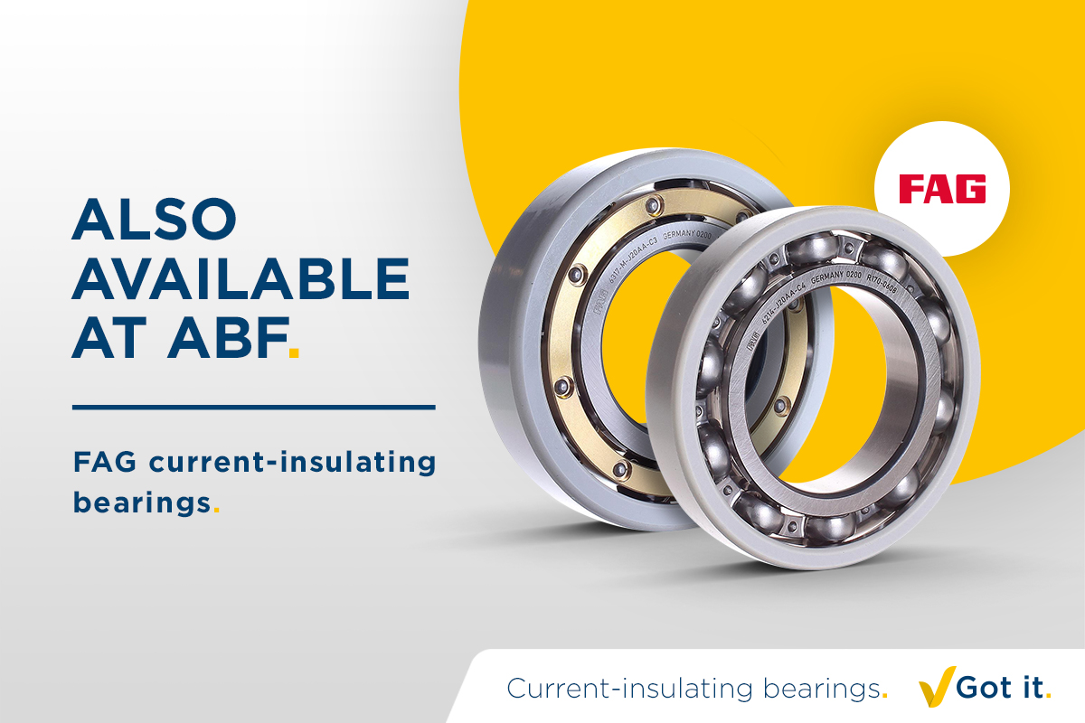 FAG current-insulating bearings. Got it.