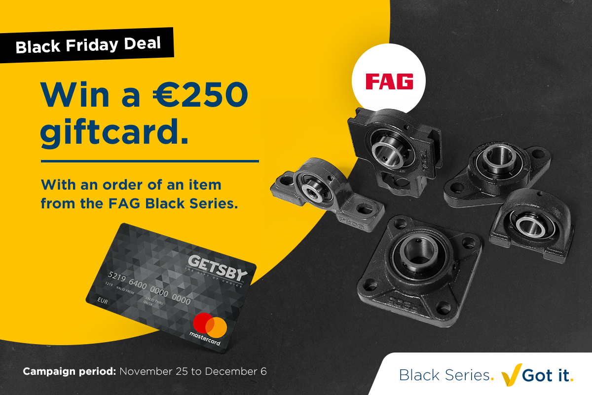 Black Friday Deal: Win a gift card with the FAG Black Series