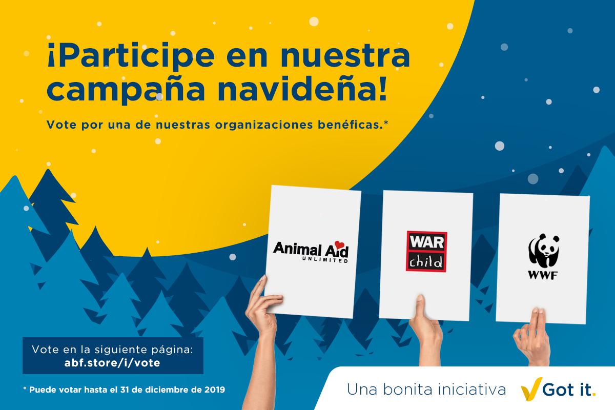 En estas fiestas, ABF recauda donaciones para organizaciones benéficas