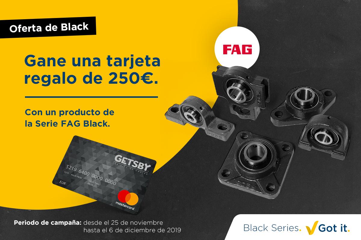 Oferta de Black Friday: Gane una tarjeta regalo con la Serie FAG Black