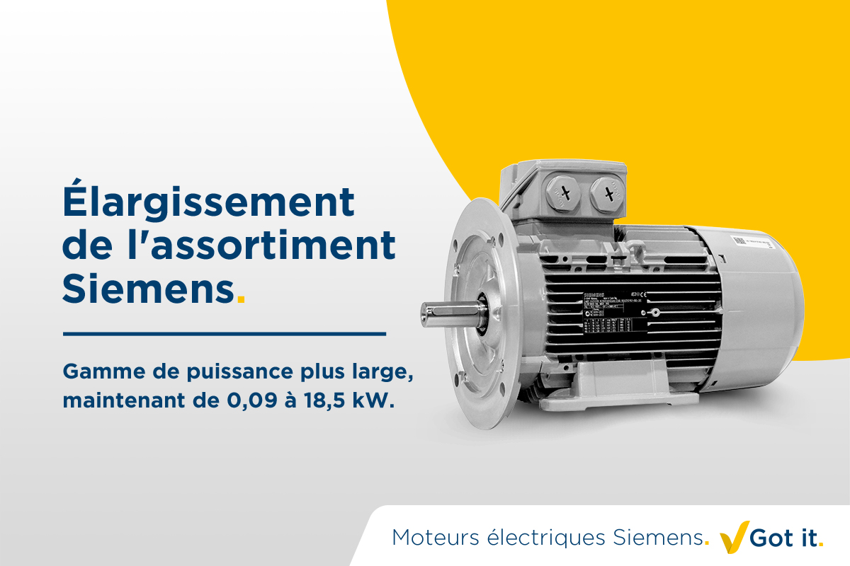 Élargissement de l'assortiment Siemens. Got it.