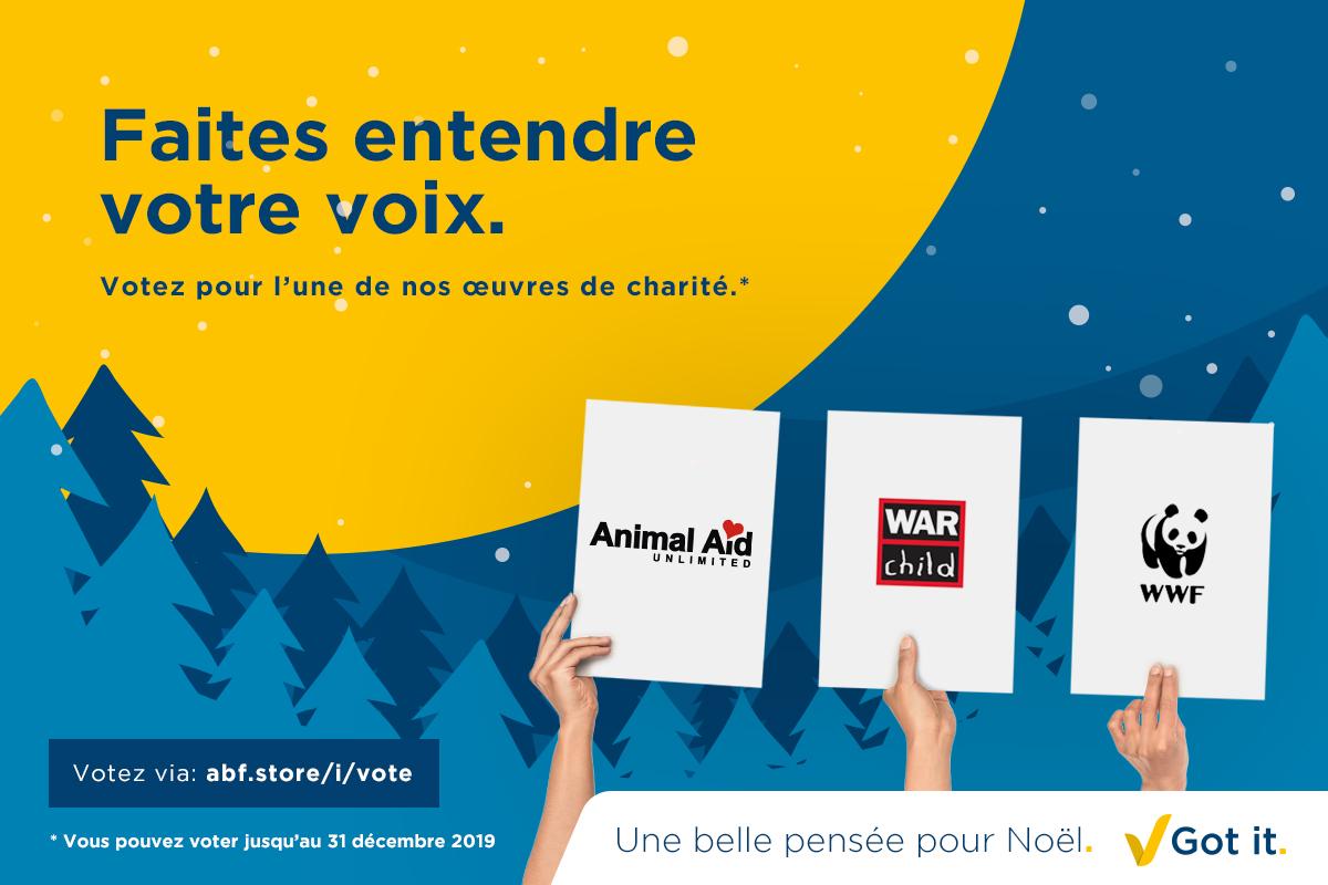 Don pour les œuvres caritatives pendant ces fêtes