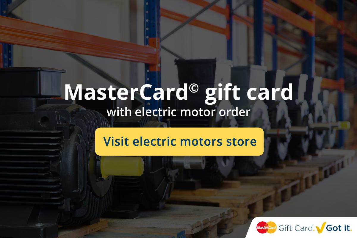 MasterCard<sup>©</sup> cadeaukaart bij bestelling elektromotor