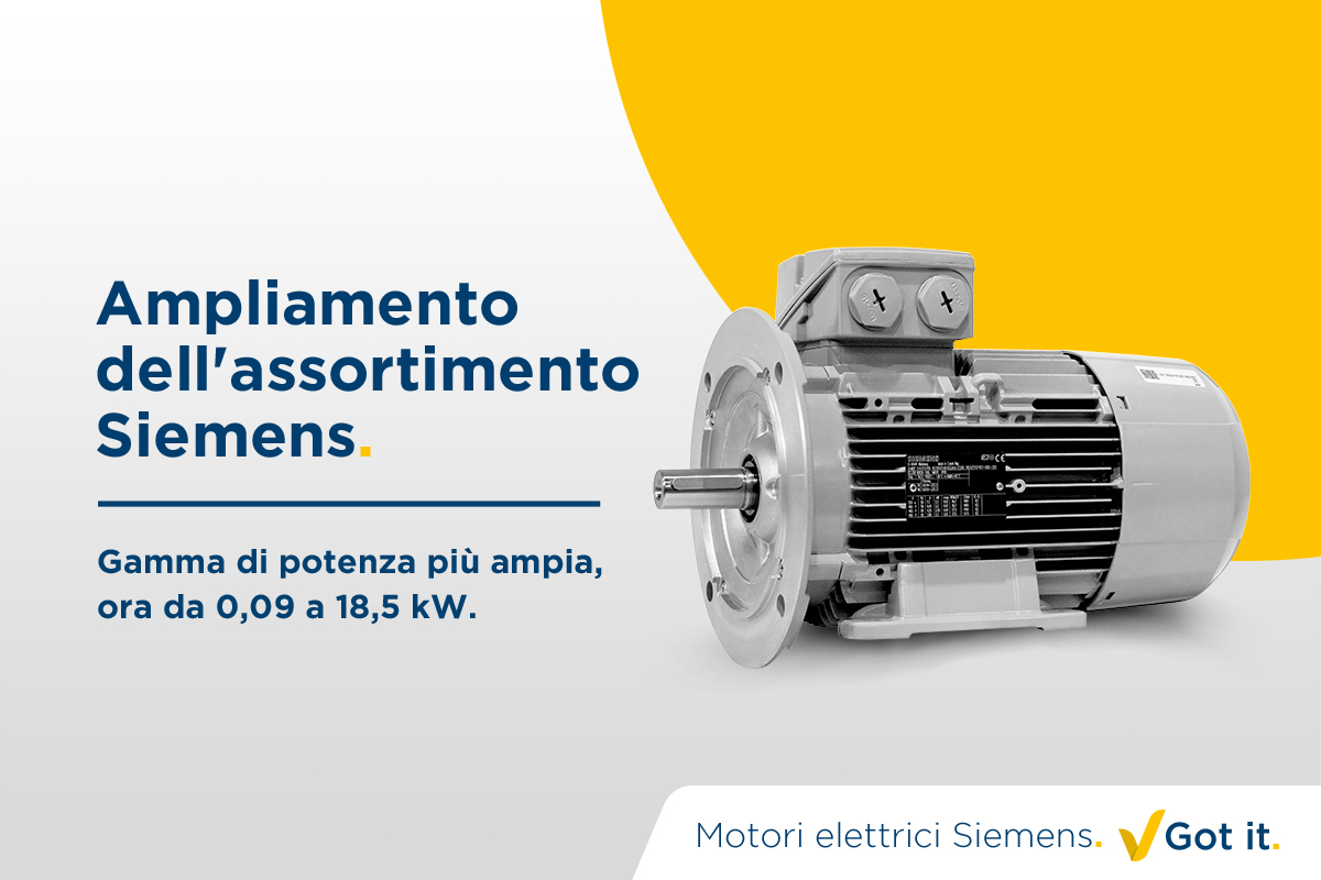 Ampliamento dell'assortimento Siemens. Got it.