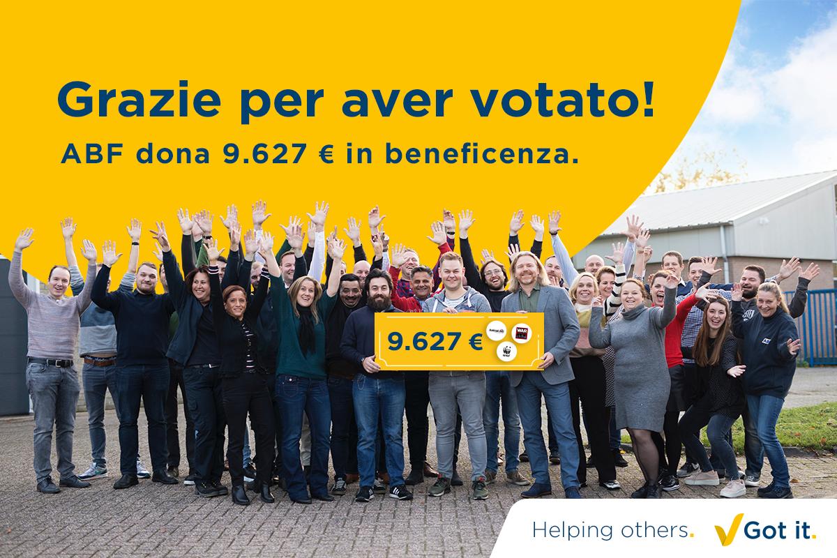 Grazie per aver votato durante la nostra campagna natalizia