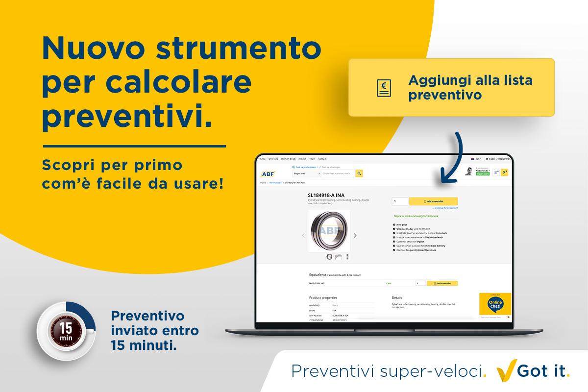 Ora prova il nostro nuovo strumento per calcolare preventivi