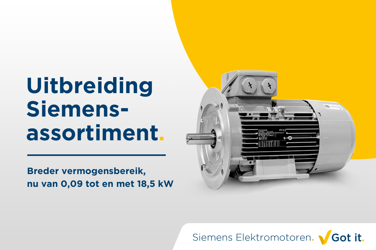 Uitbreiding Siemens-assortiment. Got it.