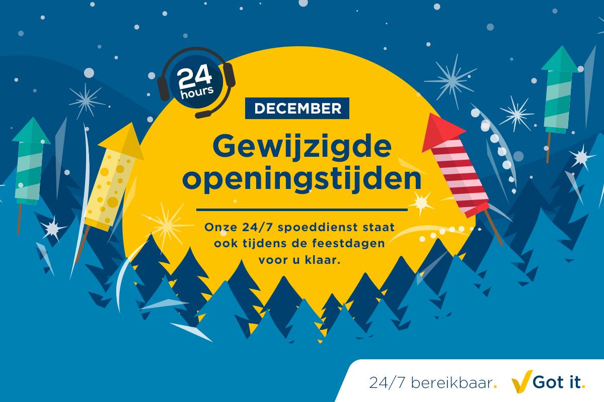 Aangepaste openingstijden ABF in december