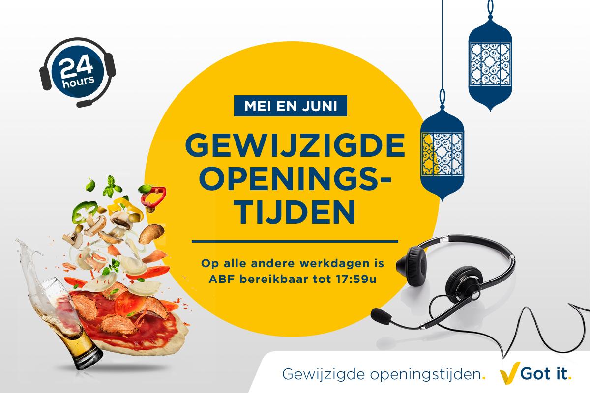 Gewijzigde openingstijden in mei en juni