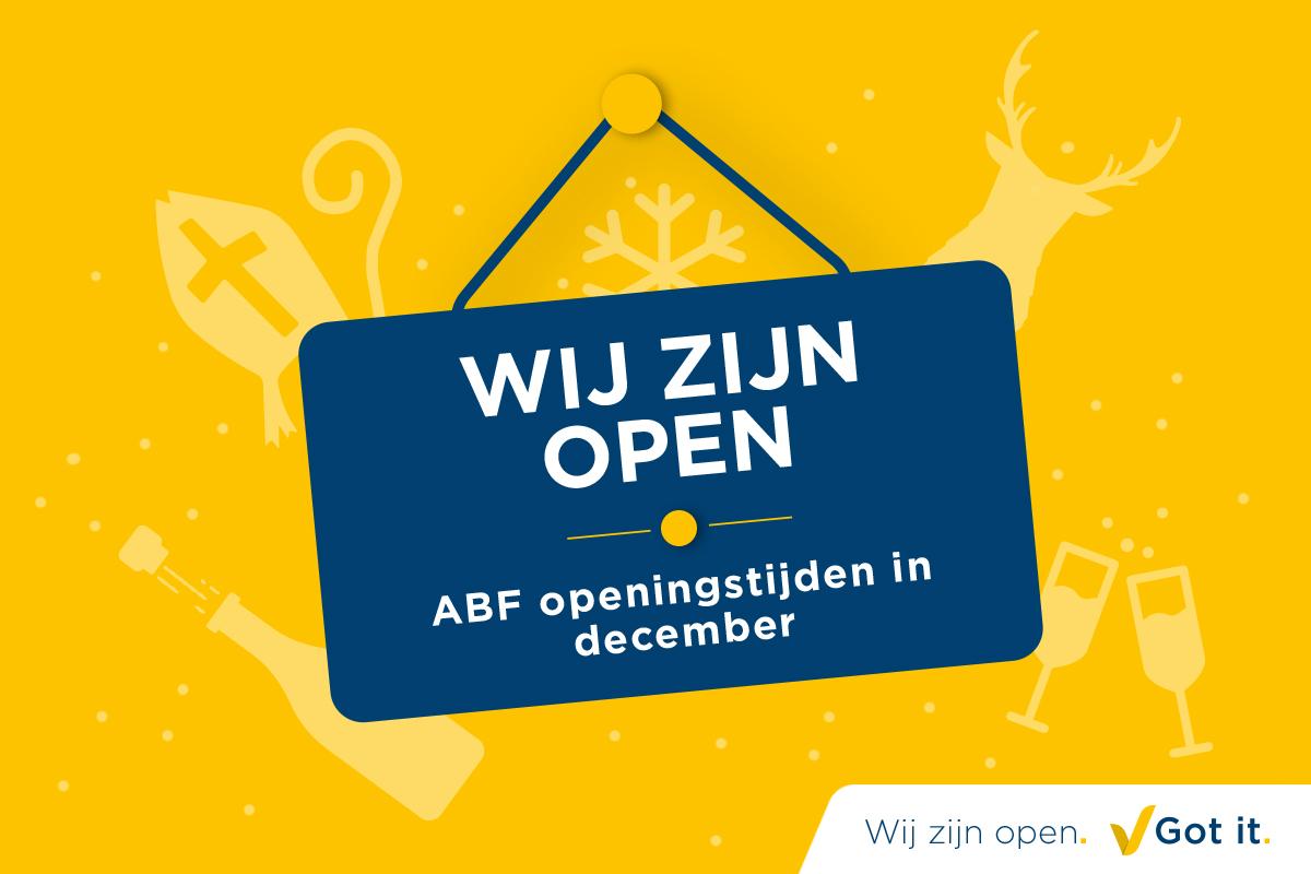 ABF openingstijden in december