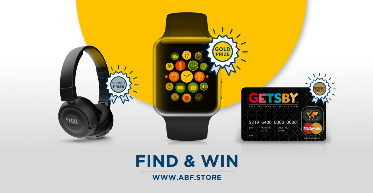 Find and Win a brand-new Apple Watch at ABF.store